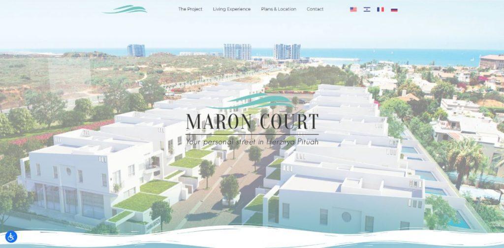 """אתר לפרויקט נדל""""ן - Maron Court"""