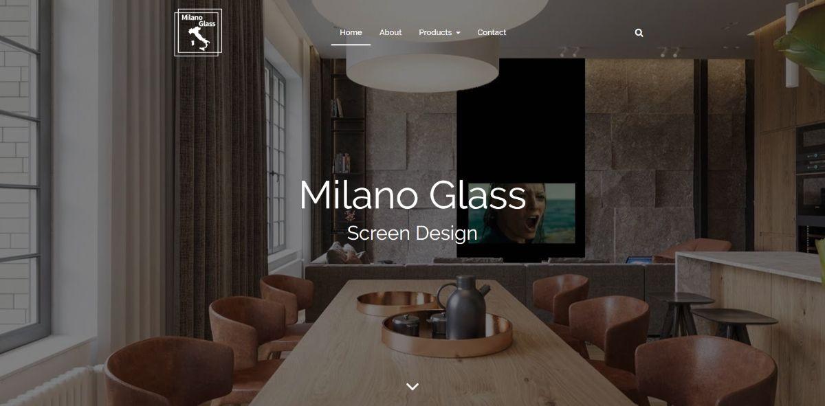 אתר תדמית - Milano Glass