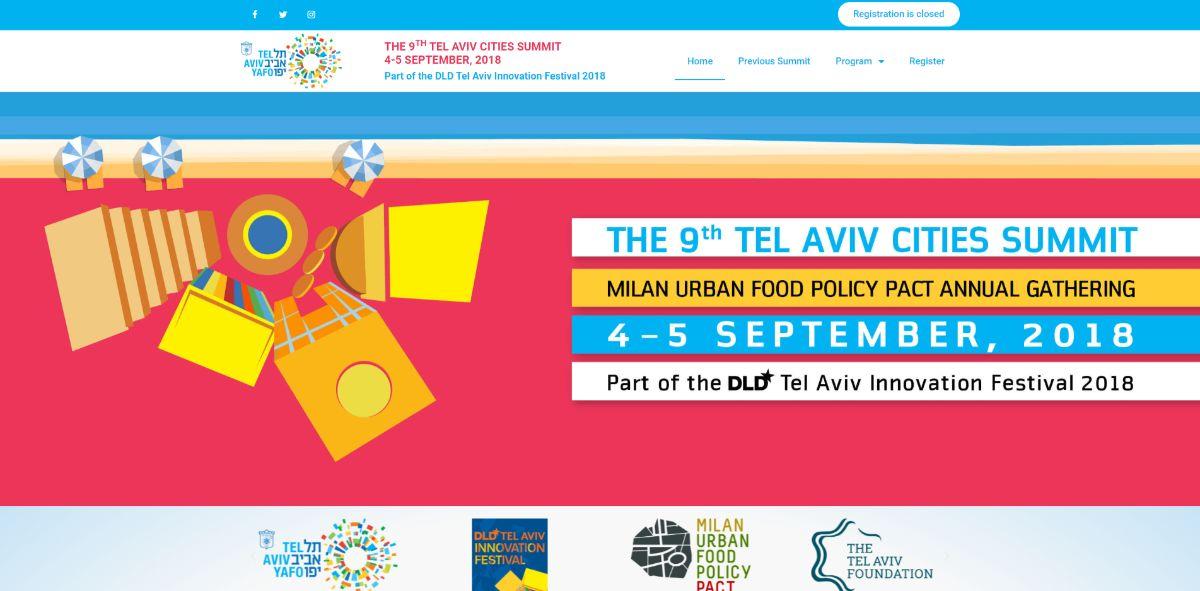 אתר לכנס הערים השנתי בתל אביב - Tel Aviv Cities Summit