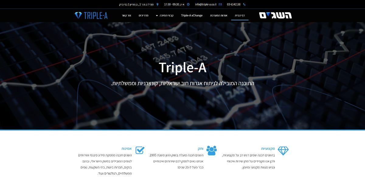 אתר תדמית - Triple A