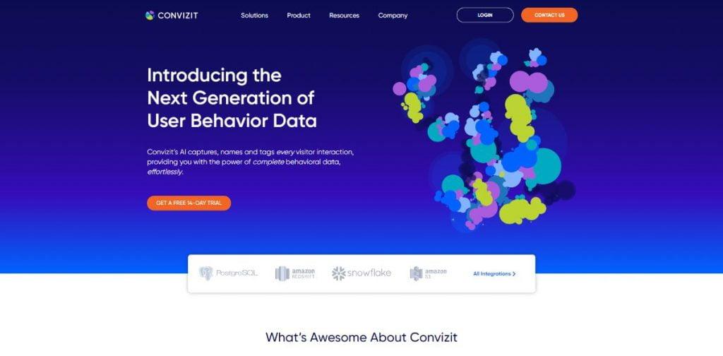 אתר תדמיתי לחברת סטארטאפ - Convizit