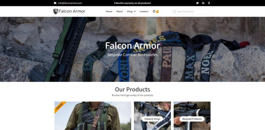 אתר מכירות - Falcon Armor